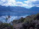 Laka Haramea on the other side of the van almost to our destination of the city of Wanaka.  Beautimus...