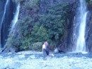 Me n ma at the three waterfalls in Franz Joseph