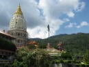 Kek Lok Si, the largest Buddhist Temple in Malaysia, is truly a fairytale complex incorporating Burmese style at the top, Thai in the middle, and Chinese at the bottom.