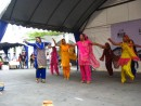 These Indian ladies danced for us at the Sunday afternoon crafts fair.
