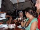 Sora was host to a jam session while we were anchored in Danga Bay.  Ellen, Aki, Leslie, and Gregor played and sang.