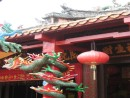 Dragons are protecting the entrance to this temple.