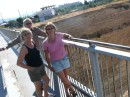 Mum and Chris visiting, Corinth Canal, Sept 2011