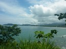 View of Lake Arenal with some sun