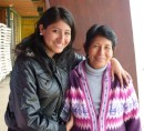 Pamela and her mom. From Lima.