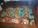 Championship fight belts from MGM