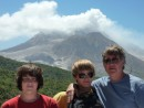 The boys at the still active Soufriere Hills Volcano