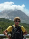 Michael at the still active Soufriere Hills Volcano