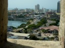 view of Cartagena from the fort