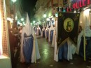 Semana Santa week in La Linea. The penitents parading through the town.