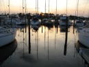Sunset in the marina.