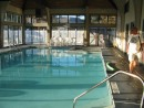 The indoor pool at the rec center.