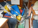 All of our loose gear loaded below deck.