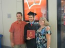My sister Donna, her husband Brian and their son Andrew.  Another Badger graduation