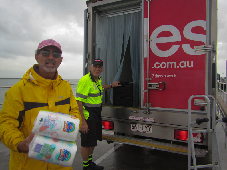 Provisioning in Cairns: Free grocery deliveries directly to the dock