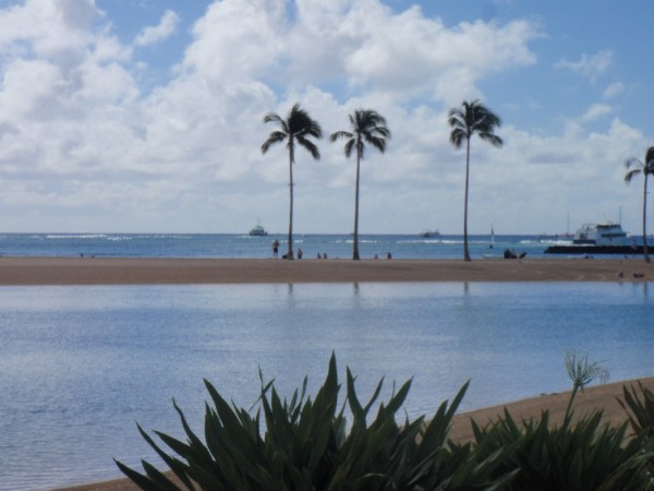 Close up of our pool