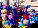 All ages in this Carnaval Parade, including lots of dancing grandmothers!