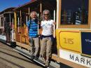 Captain Kirk & Heidi catching a cable car in SF.