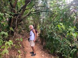 The trail is well maintained and well traveled through the jungle which would otherwise quickly take back the trail... Remember, just because you didn
