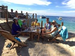 A lunch stop at Maraika Beach Club is always a delicious treat, and this time was no exception! Eulalie (Lal), Eric, Judy, Will, Heidi, and Kirk. Thanks for taking the photo Laura!