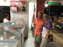 Heidi and her brother Arne at the paletaria (popsicle shop!) It