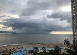 Tropical weather storms are amazing to watch, and this squall was headed straight for the condo before it veered away.