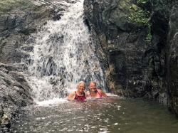 After our snorkel, we bouldered our way up the jungle trail to the Colomitos waterfalls to rinse off in the freshwater pool.