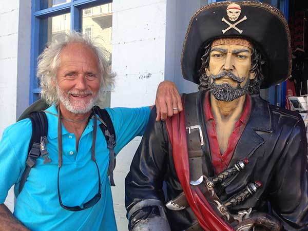 Aarrgghh! Captain Hook caught up with Captain Kirk again in Monterey,  but Kirk soon escaped into the Monterey Bay Aquarium!
