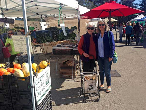 Sheila and Heidi at the Monterey Farmer