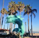 Santa Barbara Palm Trees and  Dolphins, what more could you want? Anyone surprised that Heidi was born here?! ;-)