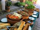 This beautiful buffet of delicious, organic food at Los Arroyos Verdes is included in the day-pass to the pool.