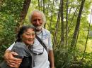 Sara G and Kirk at the Earth Sanctuary on Whidbey Island.