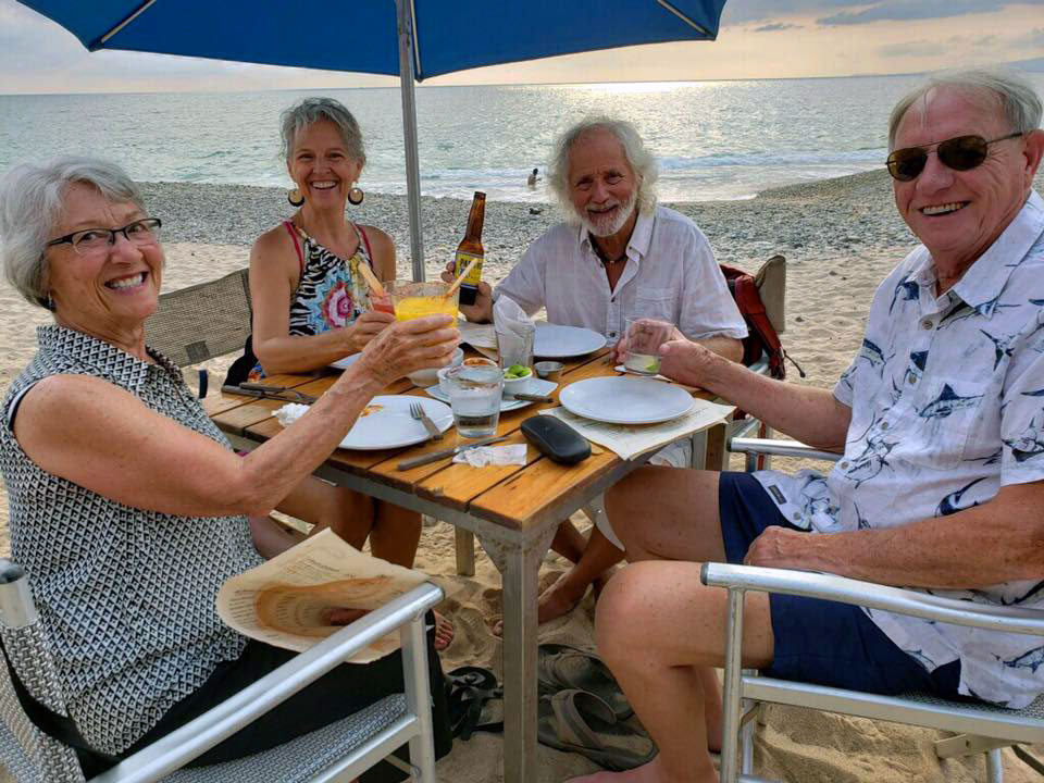 Happy hour on the beach at Barracuda in Puerto Vallarta, celebrating the arrival of our new camshaft with Kathy & Earl. Thanks so much for bringing it down!