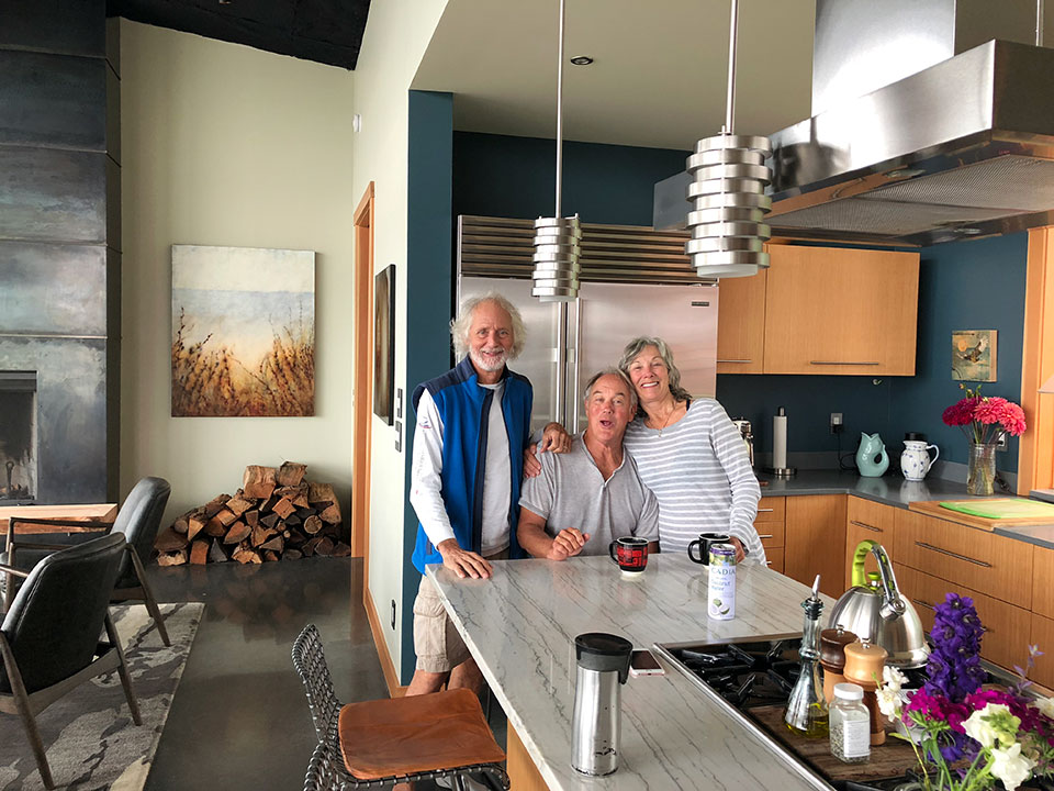 John and Carol welcomed us to our home-away-from-home. Their beautiful new house was such a cozy respite from the daily grind at the storage unit. Thanks so much for the lovely hospitality. We love you more!