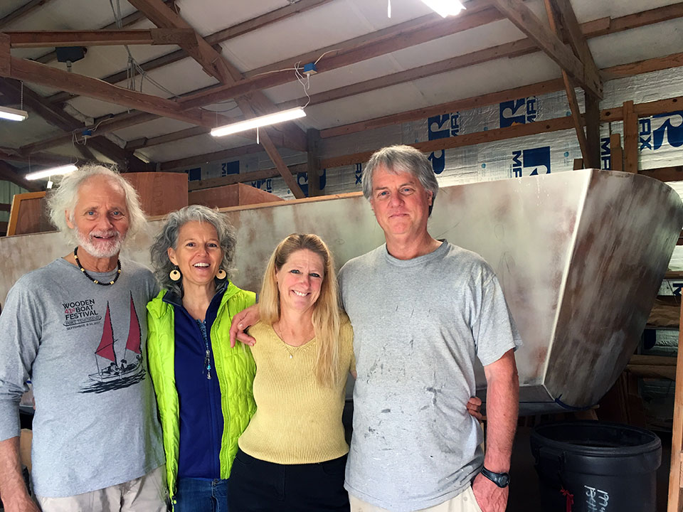 "Great visit with Wendy and Garth. They are building their new sailboat in their back yard on Bainbridge Island. Wendy Hinman has written two fun books on their sailing adventures, check them out: <a href=""https://amzn.to/2o9uqSW"" target=""_blank""><em>Tightwads on the Loose</em></a>, and <a href=""https://amzn.to/2oczt5f"" target=""_blank""> <em>Sea Trials: Around the World with Duct Tape and Bailing Wire</em></a>. BIG THANKS Wendy & Garth for driving Teresa"