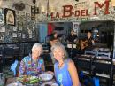 Jean and Heidi sampling black beans and rice, tostones, plantains, and more at La Bodeguita del Medio... delicious Cuban food accompanied by lovely Cuban music in the heart of Puerto Vallarta. Not to be missed!
