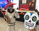 This was a contest for the best dressed Catrinas and Catrines (female and male face-painted skulls and costumes for Dia de los Muertos.)