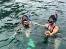 A snorkel trip with Juan Bravo is always a great adventure. This trip Juan found a sea star for Mae and a sea urchin for Jonna. We also saw a striped moray eel. All animals were returned to their habitat after photos were taken.
