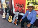 Saw this guitar craftsmen around town and the markets for about a week. He came from Michoacán, where his family makes Dos Piños guitars. Too good a deal to pass up, so Heidi bought one...
