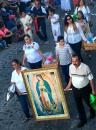 Many of the local neighborhoods, civic clubs, branches of the armed services, and schools had their own groups in the parade, and some of them carried large images of the Virgin of Guadalupe.