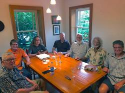 Big thanks to Arne and Teresa for hosting us all in their newly remodeled kitchen and dining room too. The Boyz Table: Pete, Arne, Tate, Steve, Andy, Kirk, and Berg.