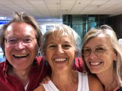 Grateful to these crazy cousins, Eric & Nan, for meeting us at the SLC airport for a quick 20-minute visit. We love you guys to the moon and back and miss you so much... Come down and visit!
