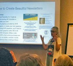 Heidi was honored to be asked to speak about Creating Effective Newsletters at Neal