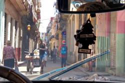 Our first view of the Havana neighborhood where we