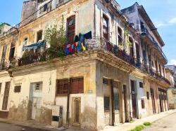 This house was down the street from our first Casa Particular in Havana, and similar to where we stayed, although the one we stayed in was in a lot better state of repair. Bel