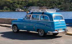 Beautiful, rare example of a 1953 Chevy wagon. There are very few station wagons in Cuba, and this was the most cherry of them all.