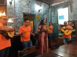 The live Cuban music at La Bodeguita del Medio was fun, check out a short video clip here: https://youtu.be/ajQq-2FTwzQ.