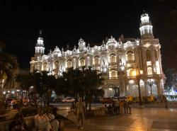 The National Theater is a beautiful building in the daytime, and even more so at night. This is the home of the famous Havana Ballet. We
