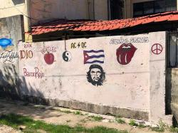 More graffiti pop-art in Cuba from Ché to the Beatles to the Stones and PEACE!