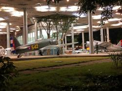 The Museum of the Revolution: Soviet and US planes on display.